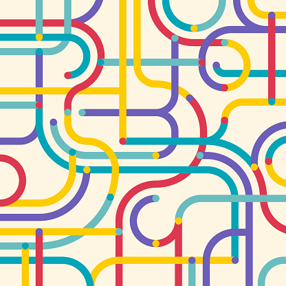 Abstract Maze Route Subway Intersection Background Pattern