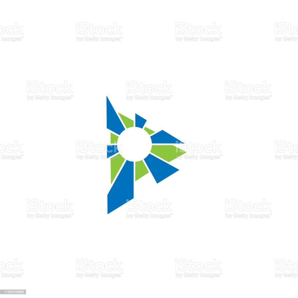 Abstract media vector logo. Media player logo. Multimedia company...
