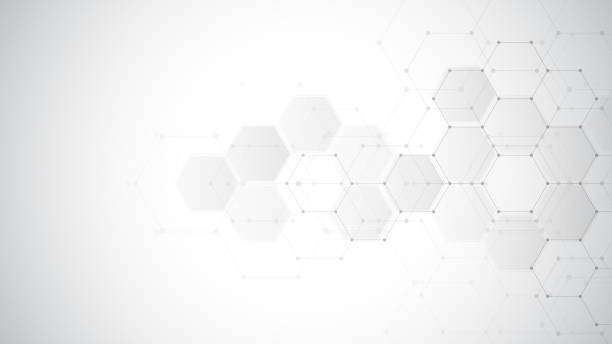 Abstract medical background with hexagons pattern. Concepts and ideas for healthcare technology, innovation medicine, health, science and research. Abstract medical background with hexagons pattern. Concepts and ideas for healthcare technology, innovation medicine, health, science and research hospital background stock illustrations