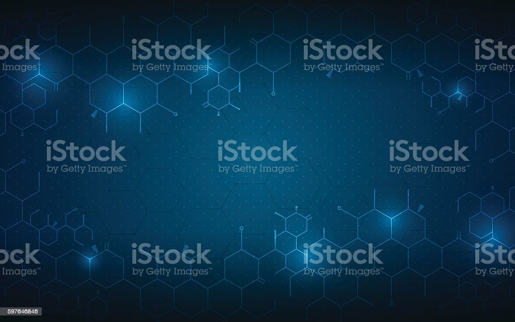 abstract medical health care concept background molecular scientific design - ilustración de arte vectorial