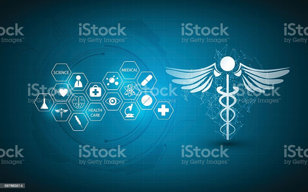 abstract medical health care innovation concept background vector art illustration