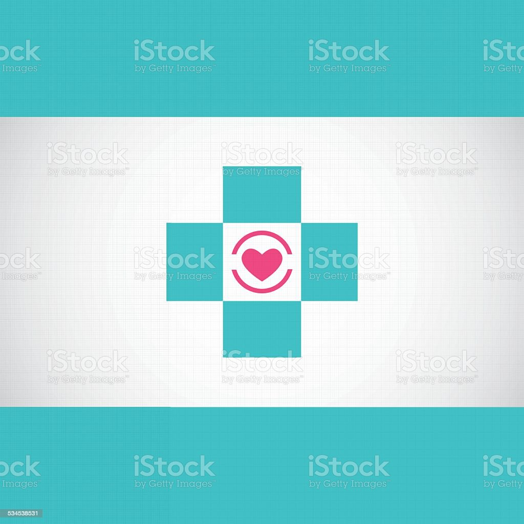 Abstract Medical Hospital Pharmacy Sign Turquoise Editable ...