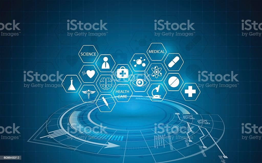abstract medical innovation concept background vector art illustration