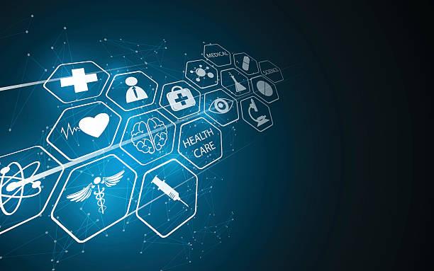 abstract medical pharmacy health care innovative concept backgroundvectorkunst illustratie