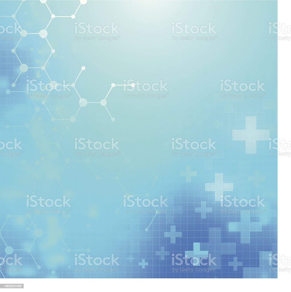 Abstract medical technology background. vector art illustration