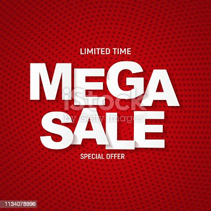 Abstract mega sale poster. Vector illustration EPS10