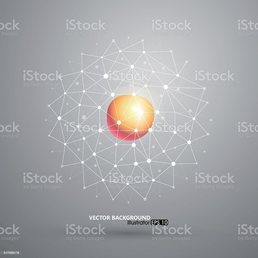 Abstract mesh background, concept vector art illustration