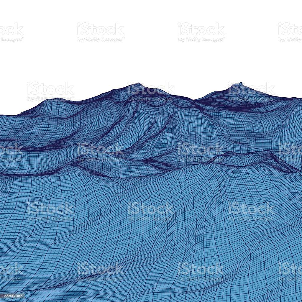 Abstract Mesh Background vector art illustration