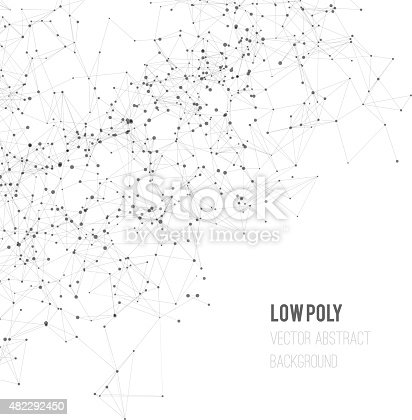 Abstract mesh background with circles, lines and shapes. Futuristic Design