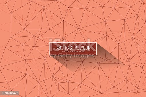 istock Abstract mesh background with circles, lines and shapes 970248478