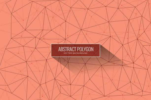 ilustrações de stock, clip art, desenhos animados e ícones de abstract mesh background with circles, lines and shapes - vr red background