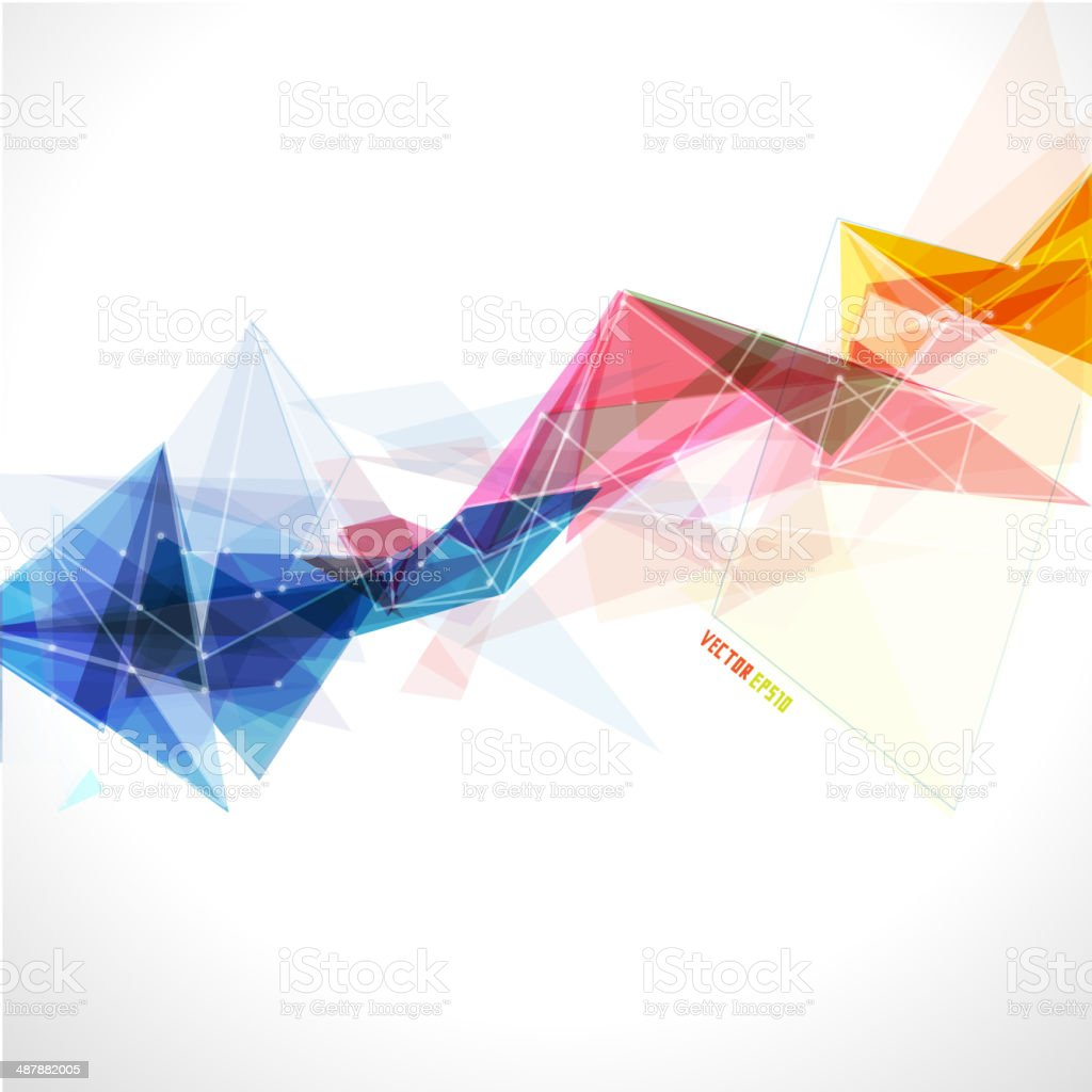 Abstract mesh colorful with lines template, vector illustration vector art illustration