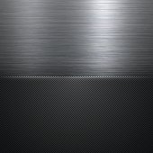 Carbon metallic background can be used for design. With space for text.