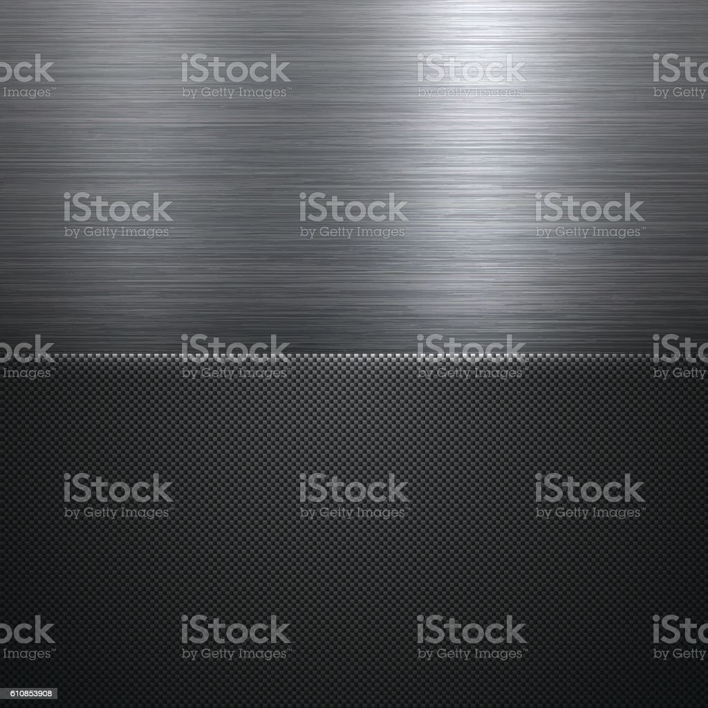 Abstract Metal Background - Carbon Fiber Texture向量藝術插圖