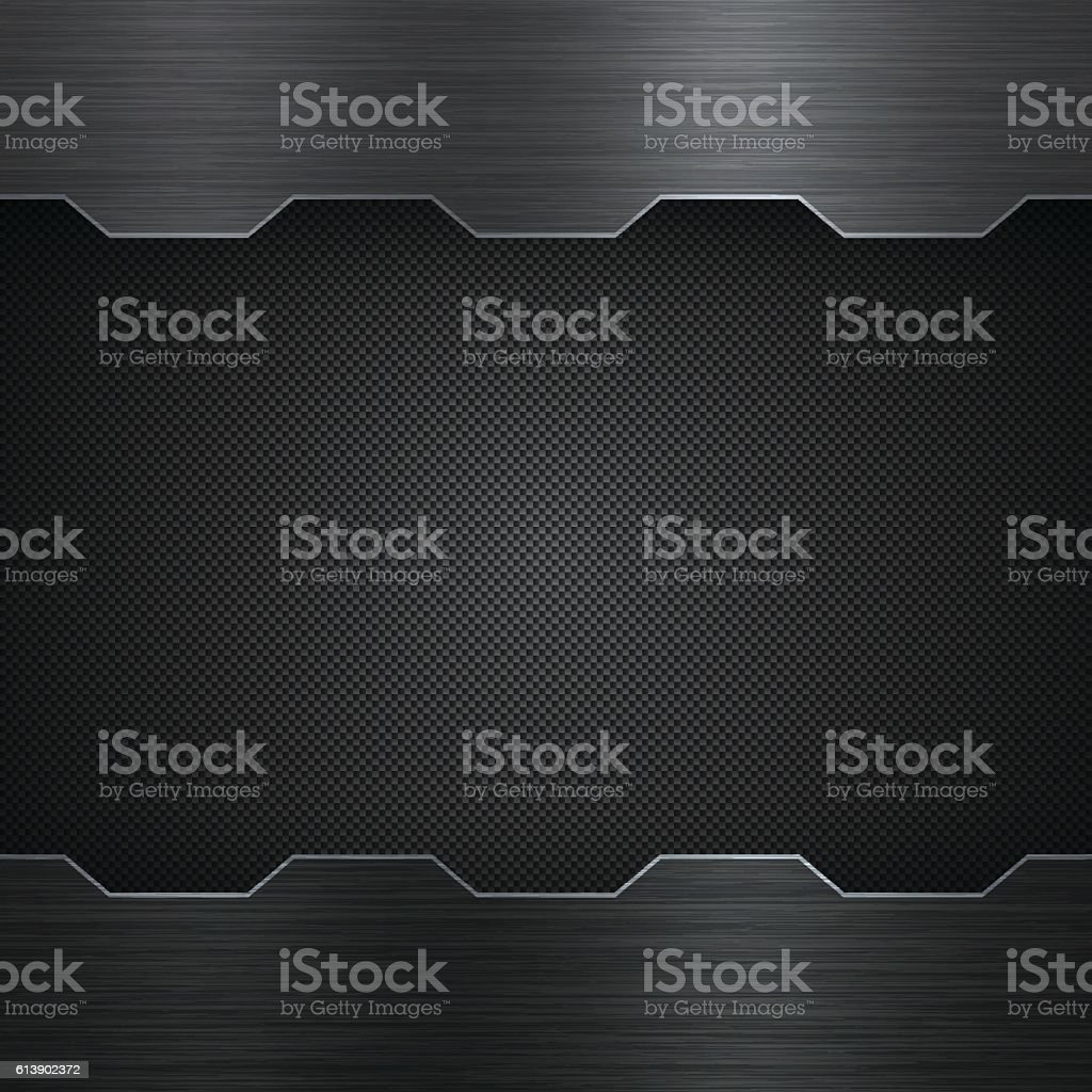 Abstract Metal Background - Carbon Fiber Texture - ilustración de arte vectorial