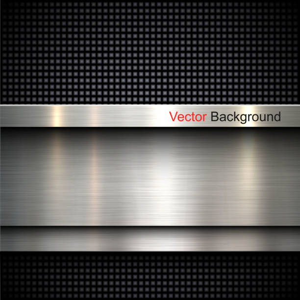 Abstract metal background Abstract metal template background design, vector illustration brushed metal stock illustrations