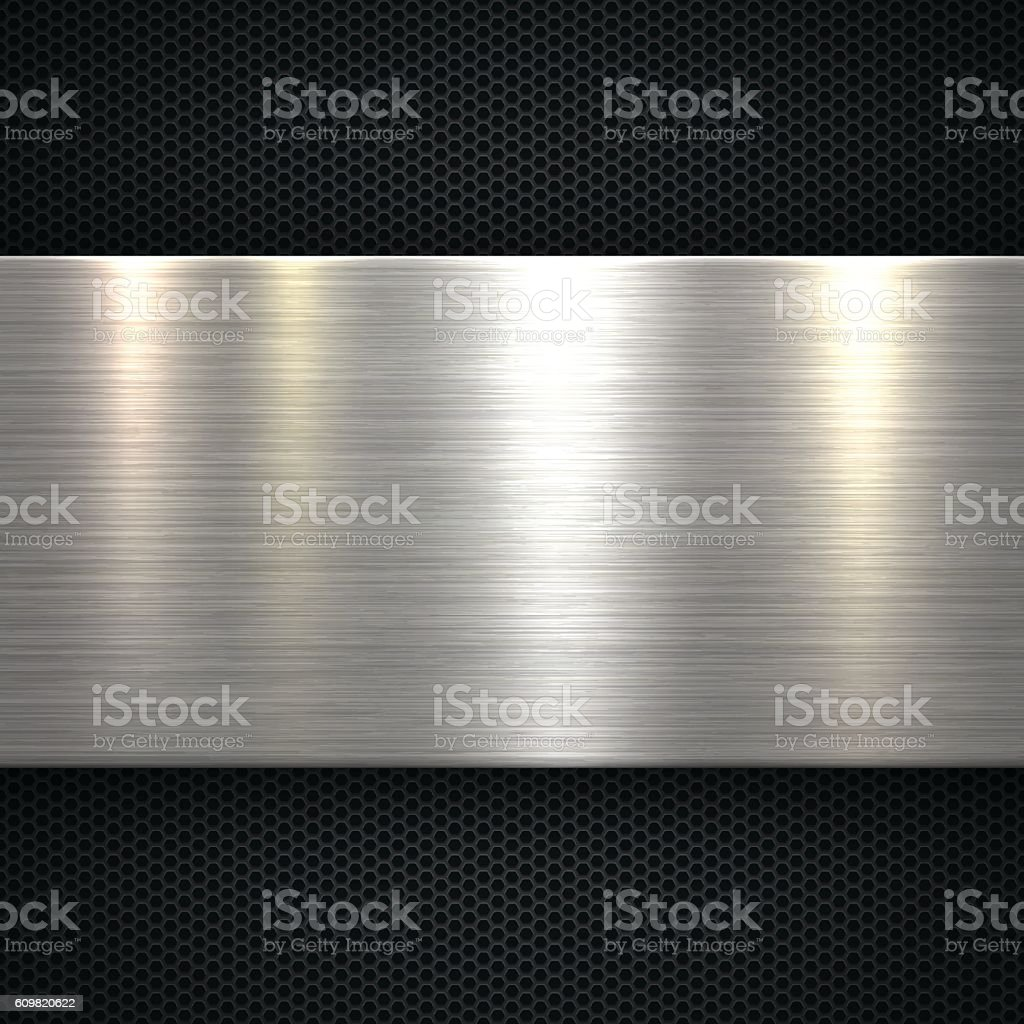 Abstract Metal Background vector art illustration