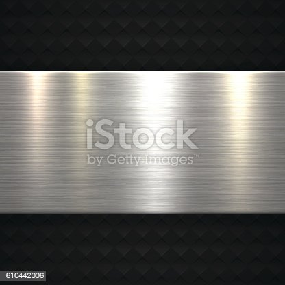 Abstract Metal Background can be used for design. With space for text.