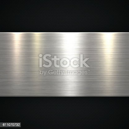 Abstract dark metallic background can be used for design.
