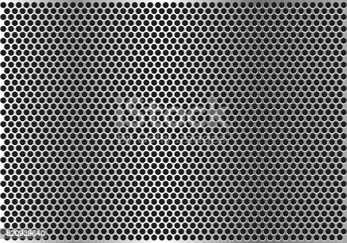 Abstract metal circle mesh background texture vector illustration.
