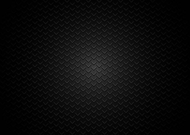 abstrakte metall vorlage grill dreiecke muster auf schwarzem hintergrund und textur. - edelrost stock-grafiken, -clipart, -cartoons und -symbole