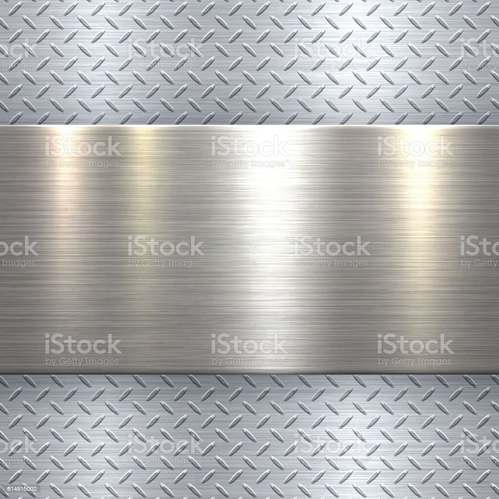 Abstract Metallic Background - Metal Diamond Plate in Silver Color ベクターアートイラスト