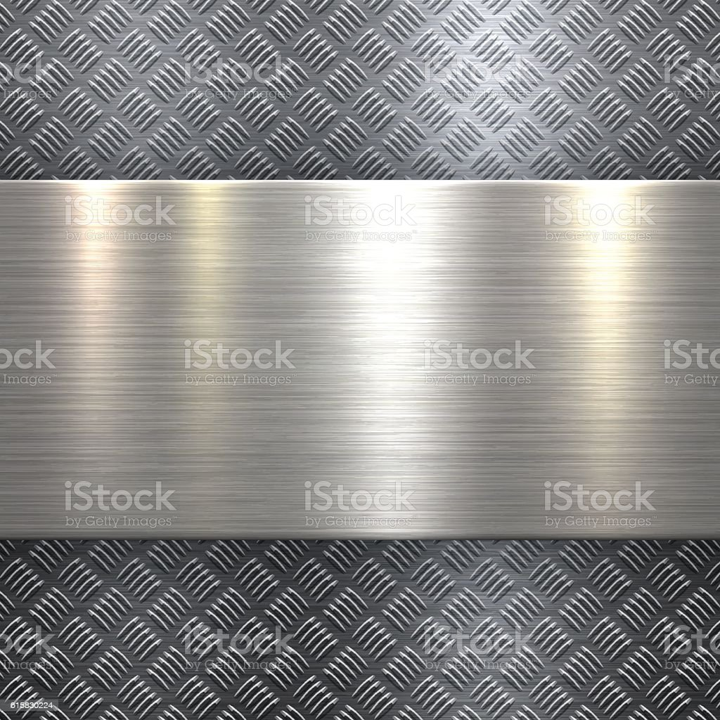diamond plate metallic border - photo #18