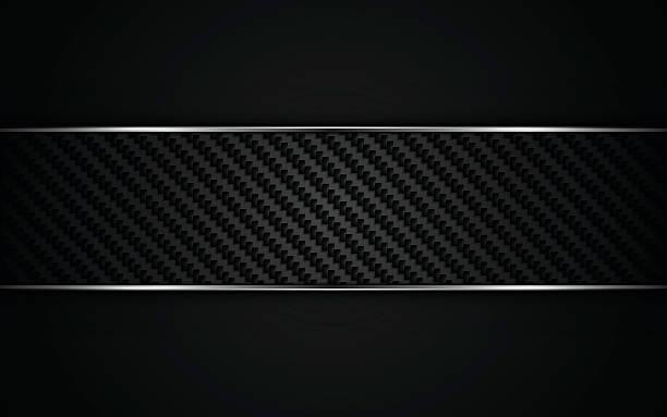 abstract metallic frame carbon kevlar texture design template background – Vektorgrafik