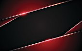 abstract metallic red black frame layout design tech innovation concept background eps 10 vector