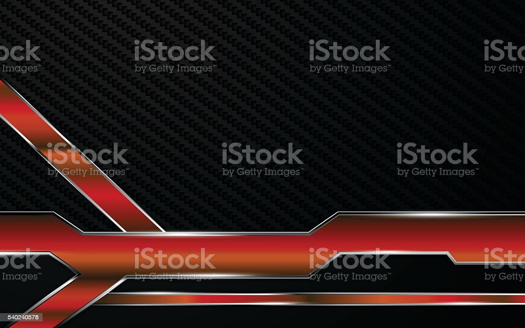 abstract metallic red frame tech racing technology innovation concept background vector art illustration