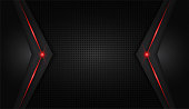 abstract metallic red shiny color black frame layout modern tech design vector template background
