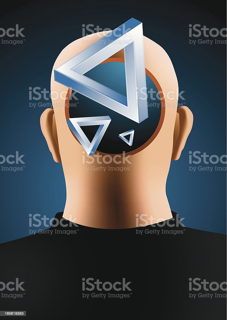 Abstract mind vector art illustration
