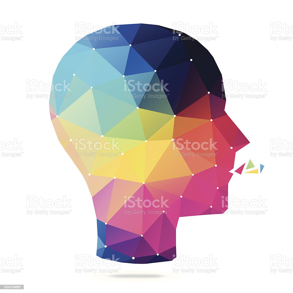 Abstract Mind vector art illustration