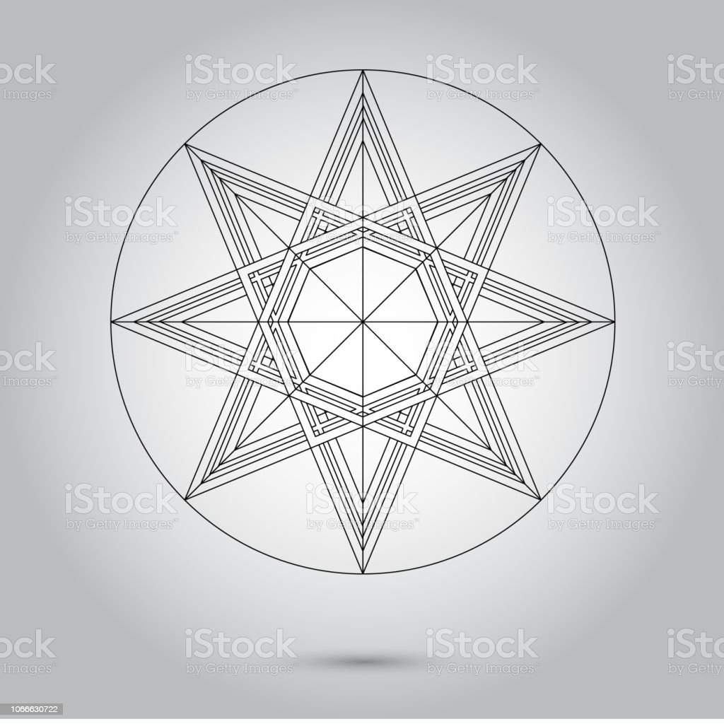 Abstract minimal black and white star for design eps 10 stock photography illustration royalty