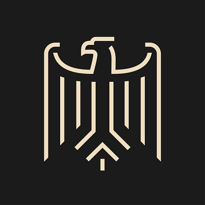 Abstract minimal eagle symbol