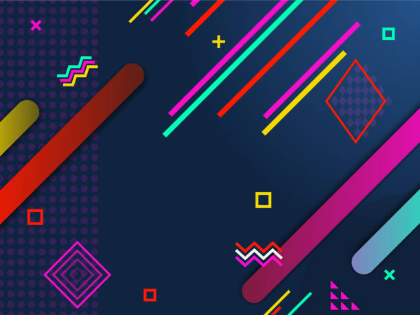 Abstract Minimal geometric background. Modern poster in hipster style. Gradient shapes composition. vector art illustration