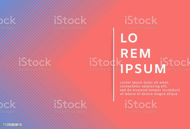 Abstract Minimal Geometric Living Coral Background Vector Illustration Stock Illustration - Download Image Now