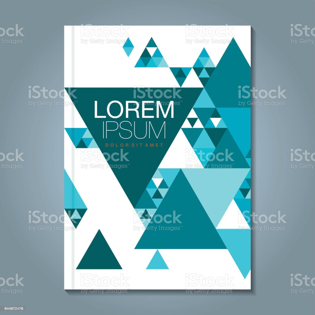 Book Cover Art Stock Images : Abstract minimal geometric shapes polygon design