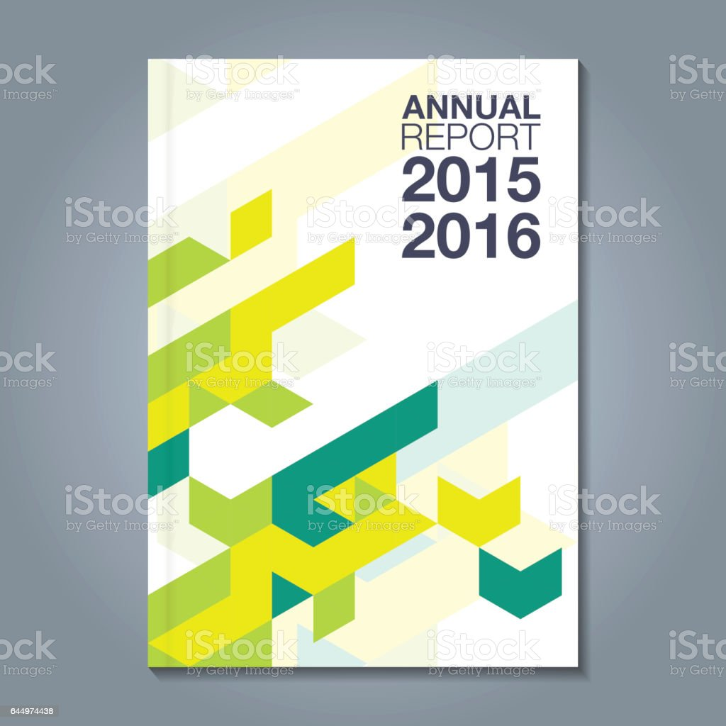 Business Book Cover Art : Abstract minimal geometric shapes polygon design