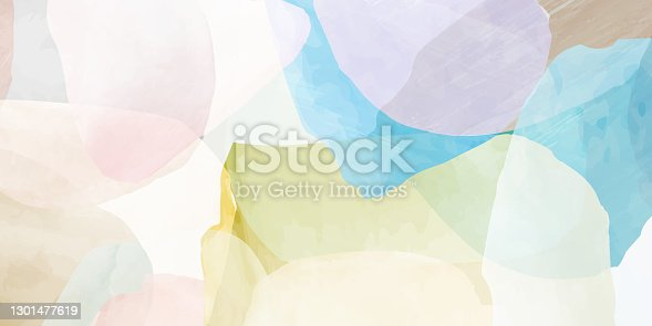 istock Abstract minimal hand painted pattern 1301477619
