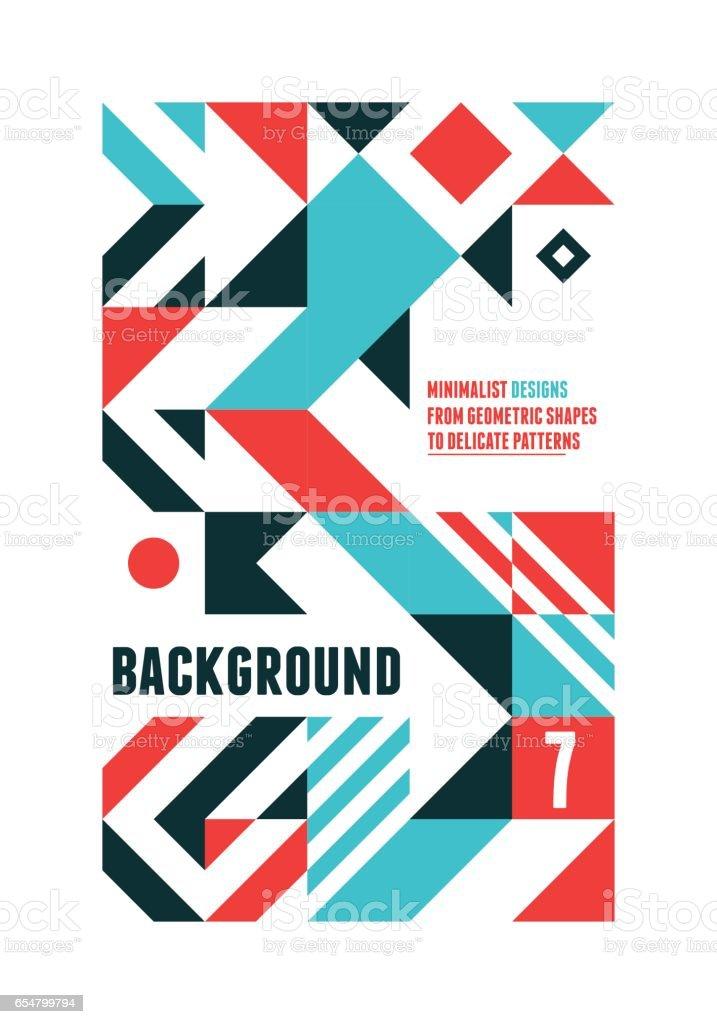 Abstract Minimal Poster vector art illustration