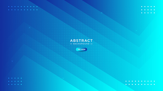 Abstract minimal soft and dark blue background. Trendy simple fluid color gradient with lines effect. Triangle shape overlap layer simple background with halftone pattern.