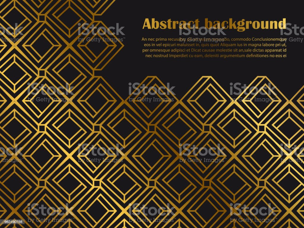 Abstract minimal style background with golden geometric shapes - Royalty-free Abstract stock vector