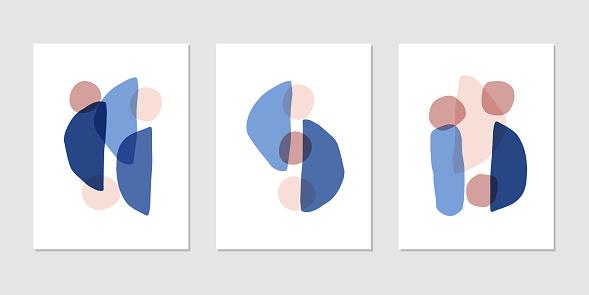 Abstract modern art composition hand drawn vector illustration. Trendy decor element