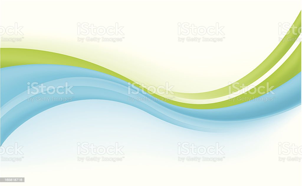 Abstract modern background blue and green royalty-free stock vector art