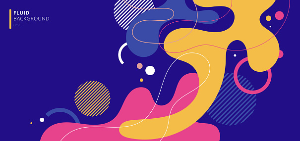 Abstract modern background elements dynamic fluid shapes compositions of colored spots