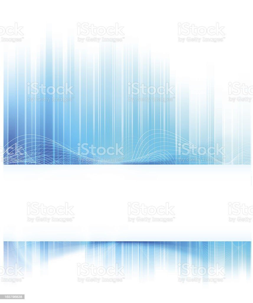 Abstract modern background of a fragmented blue wave vector art illustration