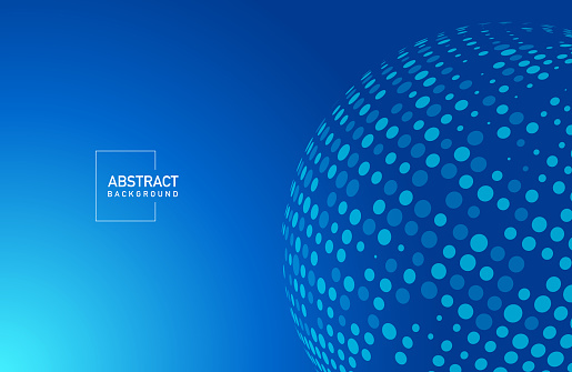 Abstract modern blue colored minimal background