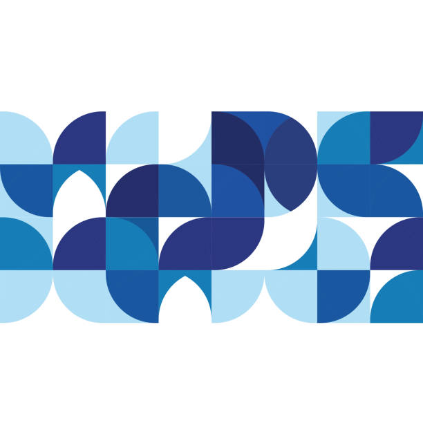 Abstract modern blue geometric background, template on white space vector art illustration