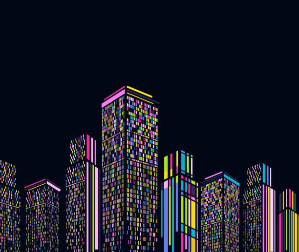 bildbanksillustrationer, clip art samt tecknat material och ikoner med abstrakt modern byggnad bakgrund - future city